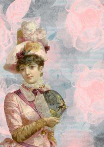 darmowy-papier-do-decoupage-vintage-paris-kobieta