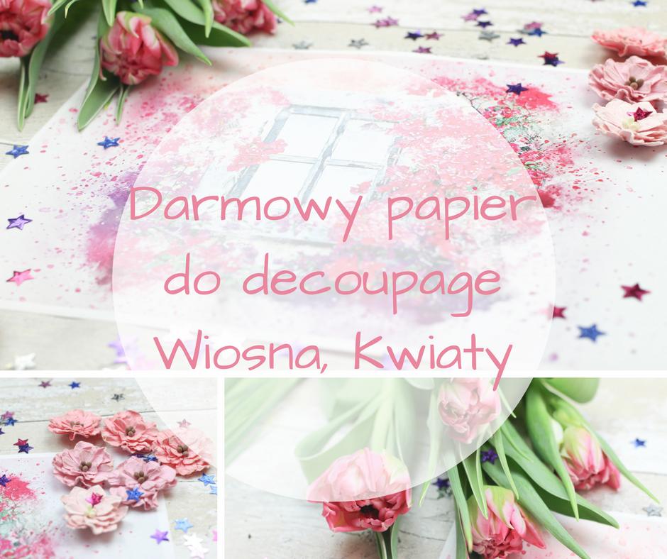 darmowy-papier-decoupage-wiosna-kwiaty-akwarele