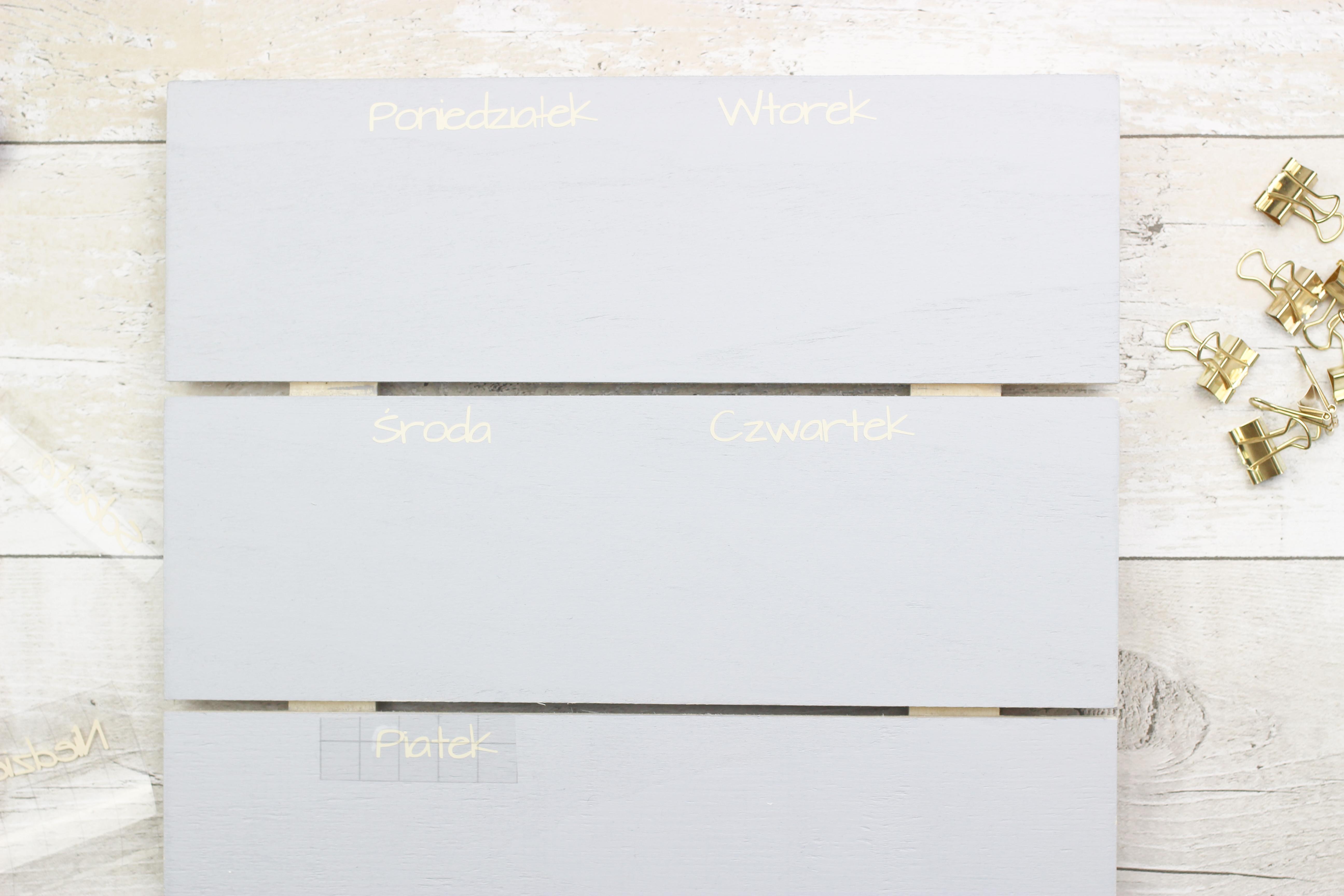 drewniana tablica menu